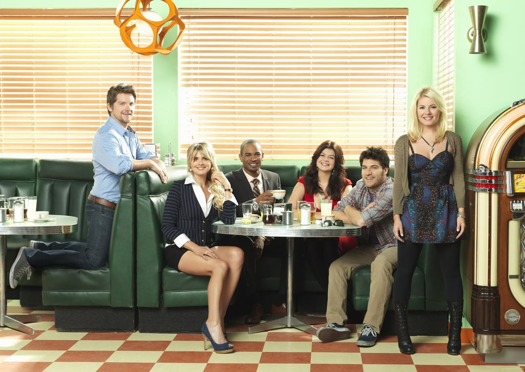 You won't be able to resist thinking of the gang from Happy Endings.