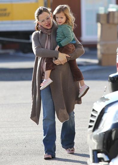 Jennifer Garner and Seraphina Affleck went to grab a warm beverage in LA.