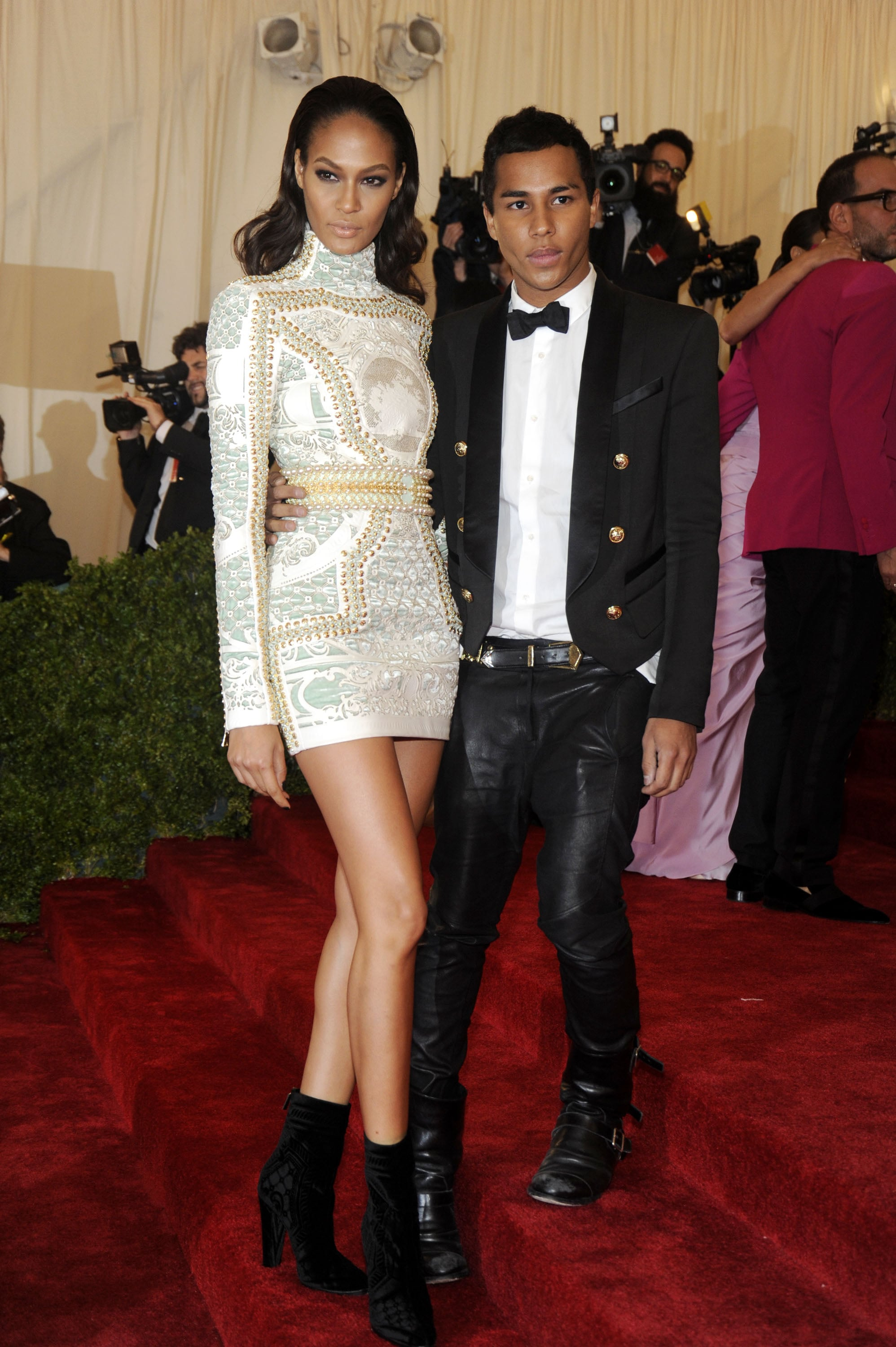 Joan Smalls and Olivier Rousteing