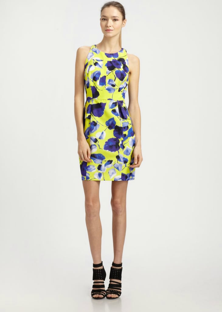 The full-bodied print on this Milly peplum sheath dress ($375) makes it a perfect option for Spring and Summer weddings. Of course, it's also just as well-suited for your more casual occasions, too, with the right Summer sandals.