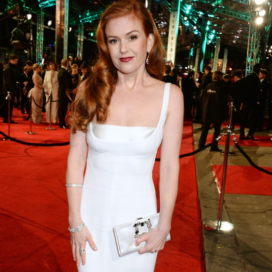 Isla Fisher in a White Gown at the BAFTA Awards 2016