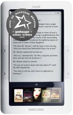 Barnes and Noble Nook Named GeekSugar Reader's Favorite eReading Device