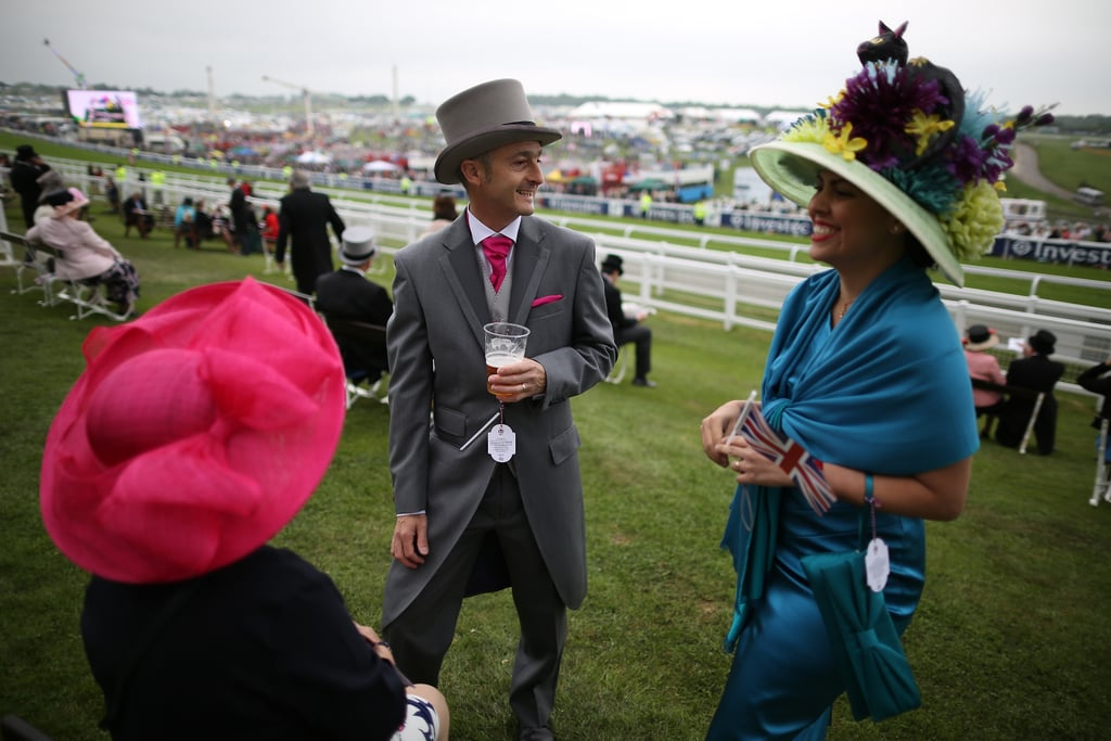 People enjoyed themselves at the derby.