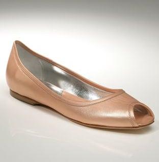 Trend Alert: Metallic Peep Toe Flats