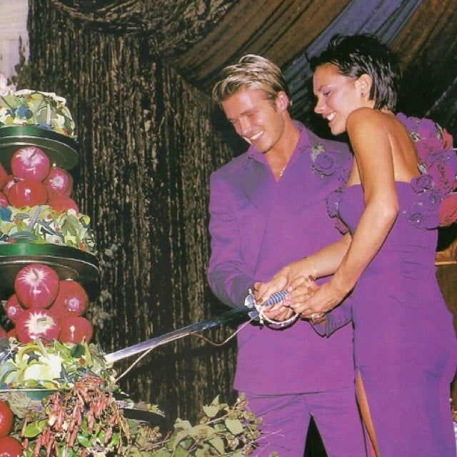 This is just one of the great throwback photos Victoria Beckham shared for her and David Beckham's 15-year wedding anniversary. Source: Instagram user victoriabeckham