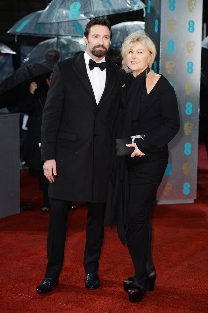 Hugh Jackman had his wife by his side on the BAFTA red carpet.