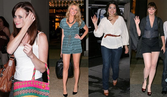 Photos of Blake Lively, America Ferrera, Amber Tamblyn, and Alexis Bledel at TRL Promoting Sisterhood of the Traveling Pants 2