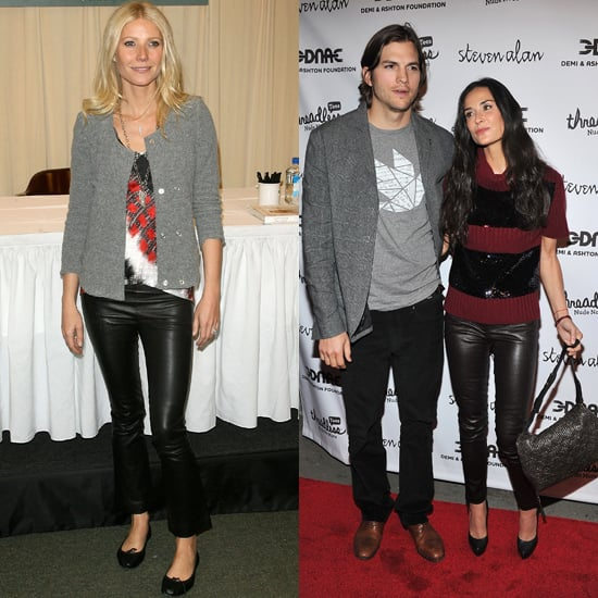 Demi Moore and Gwyneth Paltrow Dress Up Leather Pants
