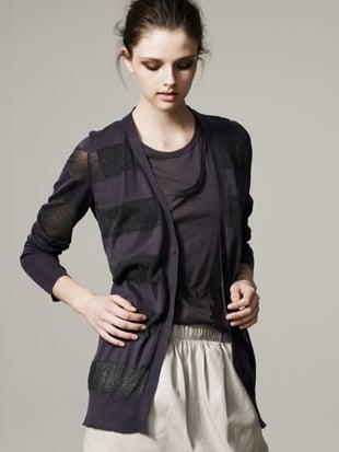 Sheer-Stripe Cardigan