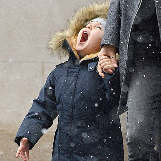 Miranda Kerr and Flynn Bloom in the Snow in NYC