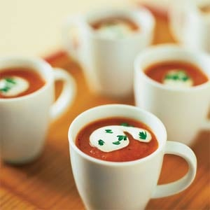 Red Carpet Side: Roasted Red Pepper-Tomato Soup