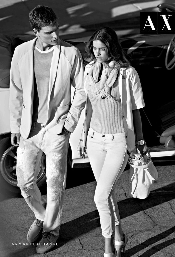 A cute couple models the Armani Exchange collection. Source: Fashion Gone Rogue