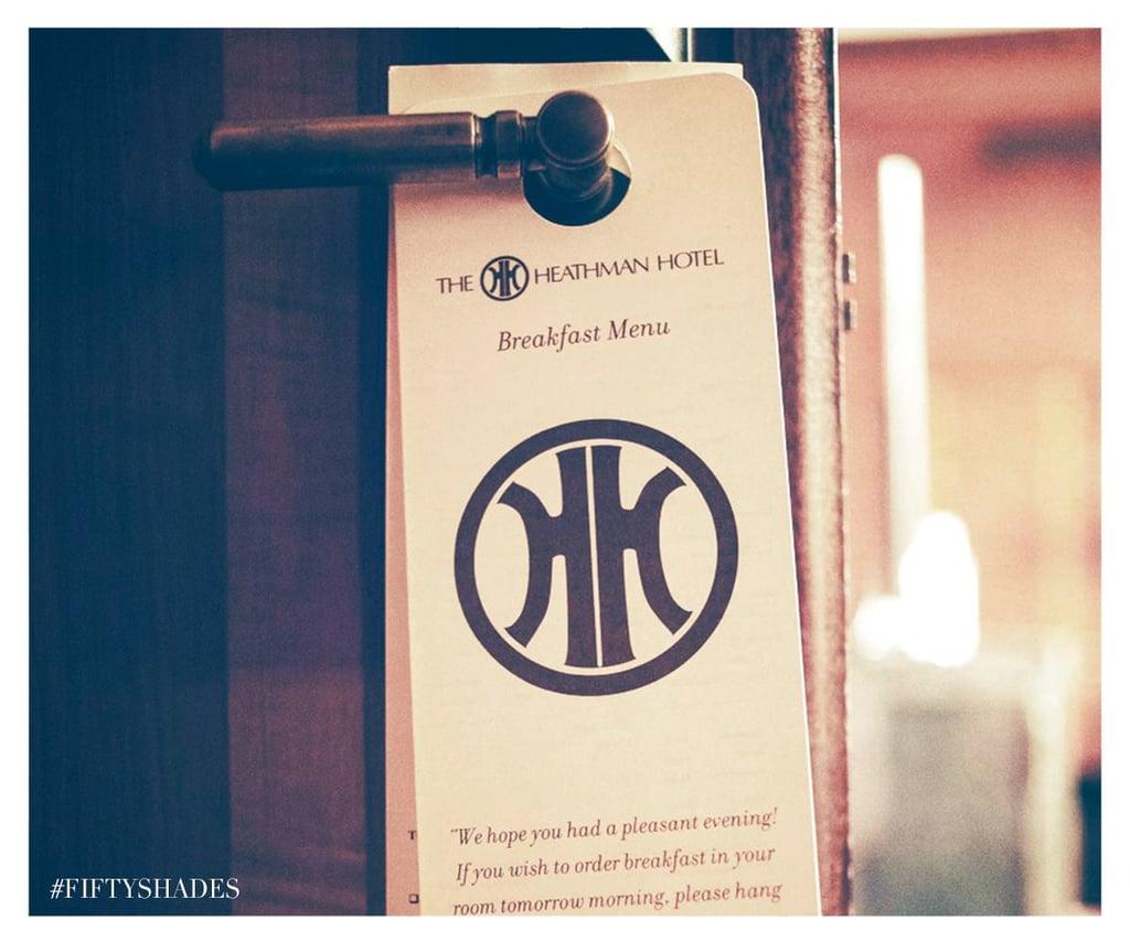 A hotel door tag gets sexy in context.