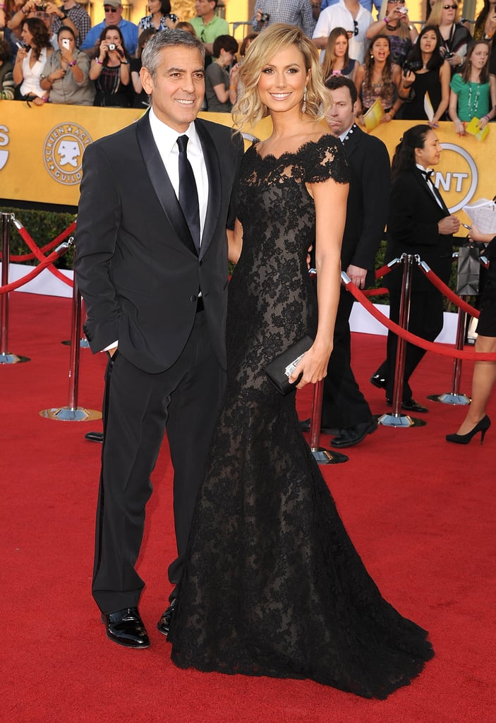Stacy Keibler and George Clooney got glamorous for the SAG Awards in January 2012.