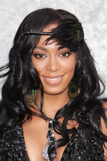 Solange Knowles Hair With Feathers
