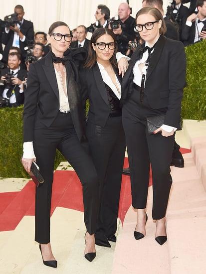 Lena Dunham, Jenni Konner and Jenna Lyons Are J. Crew Tuxedo Triplets at the Met Gala