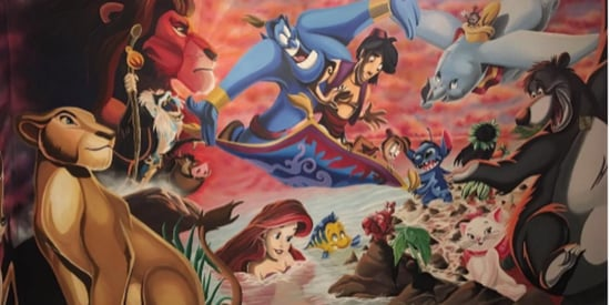 Dad Creates Epic Disney Mural For Daughter's Bedroom
