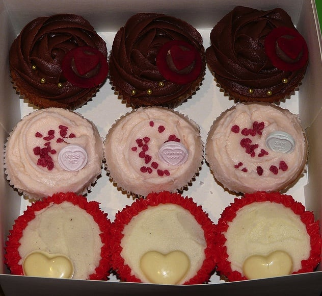 Pick up a box of Valentine's Day cupcakes from a local bakery on your way home from work. Serve during the second half of The Bachelor for a sweet finish.  Source: Flickr User Sugar Daze (f/k/a LittleMissCupcakeParis)