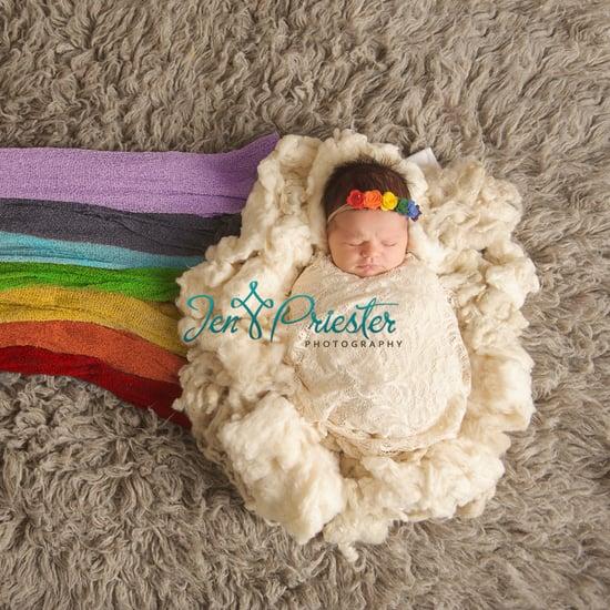 Rainbow Baby Newborn Photo