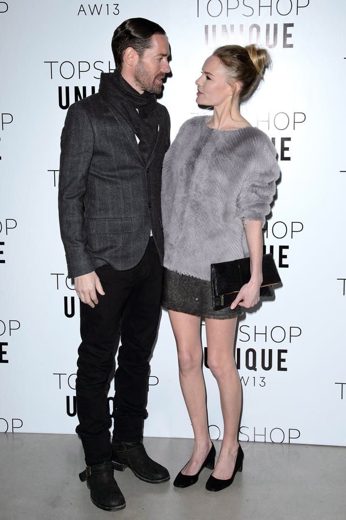 Kate Bosworth and Michael Polish gave each other a loving look in London.