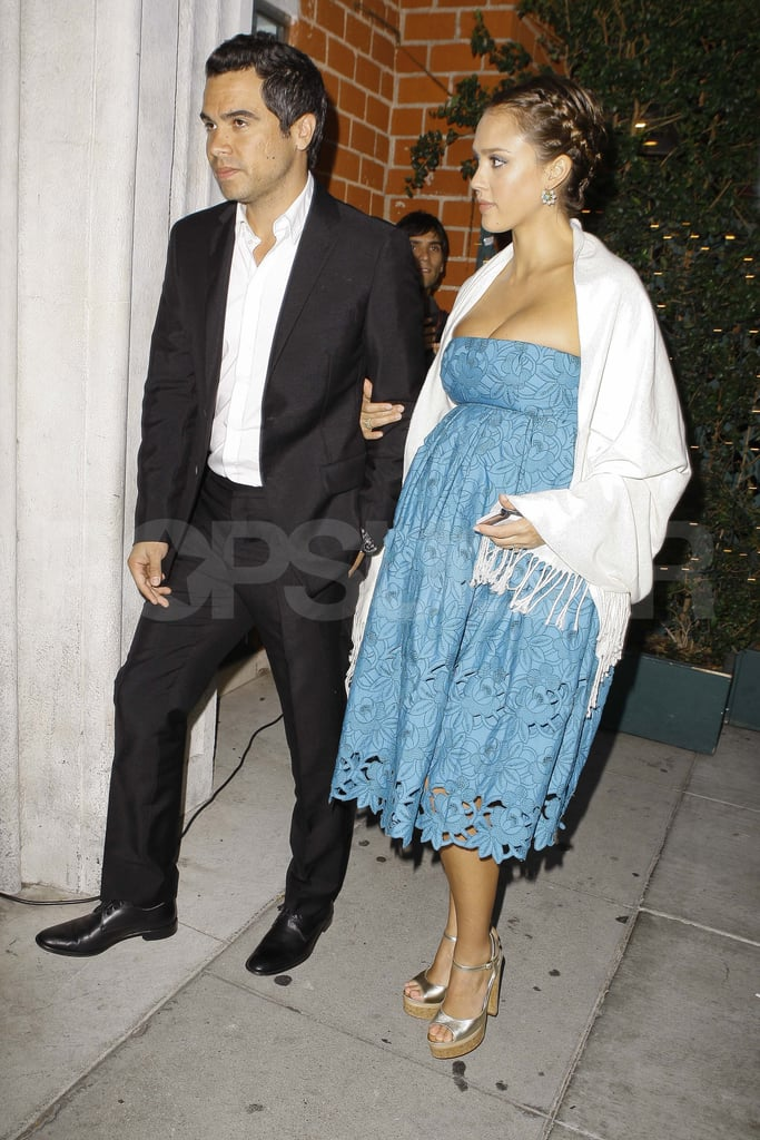 Jessica Alba and Cash Warren without daughter Honor out in LA.