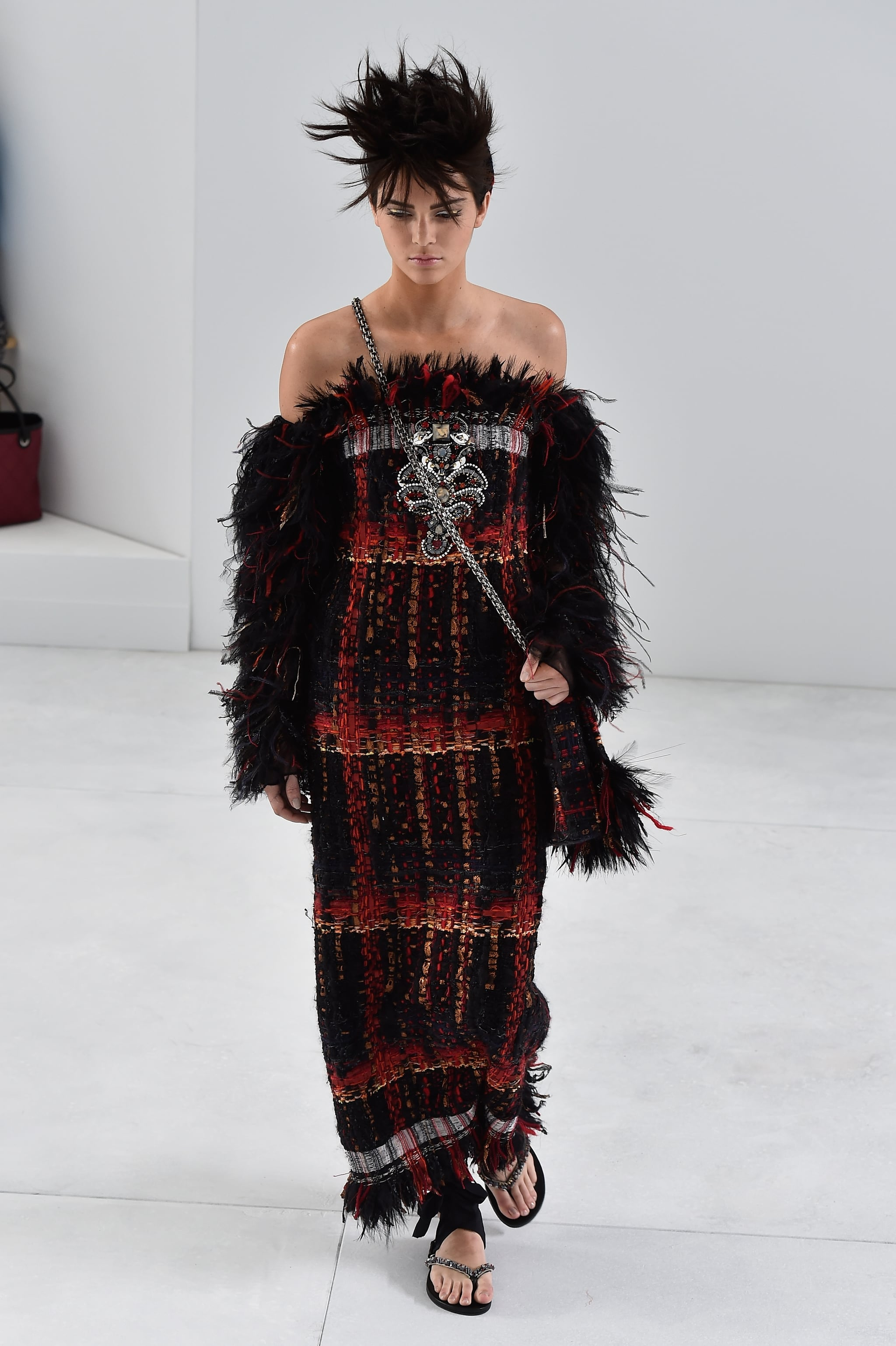 Kendall walked the Chanel Haute Couture show at Paris Fashion Week on Tuesday.