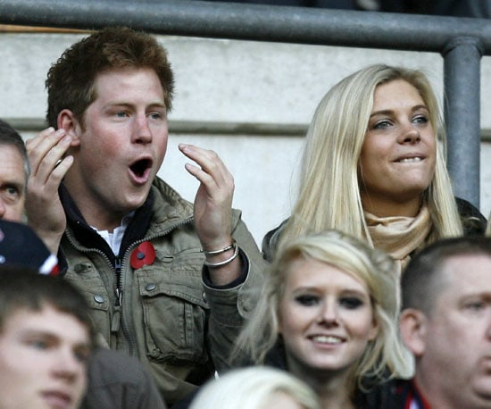 Photo Slide of Prince Harry And Chelsy Davy at Rugby in England