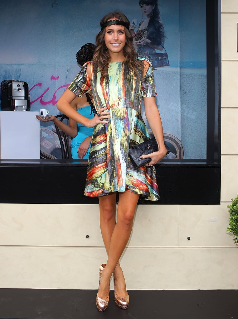 International fashionista Louise Roe works her magic trackside.