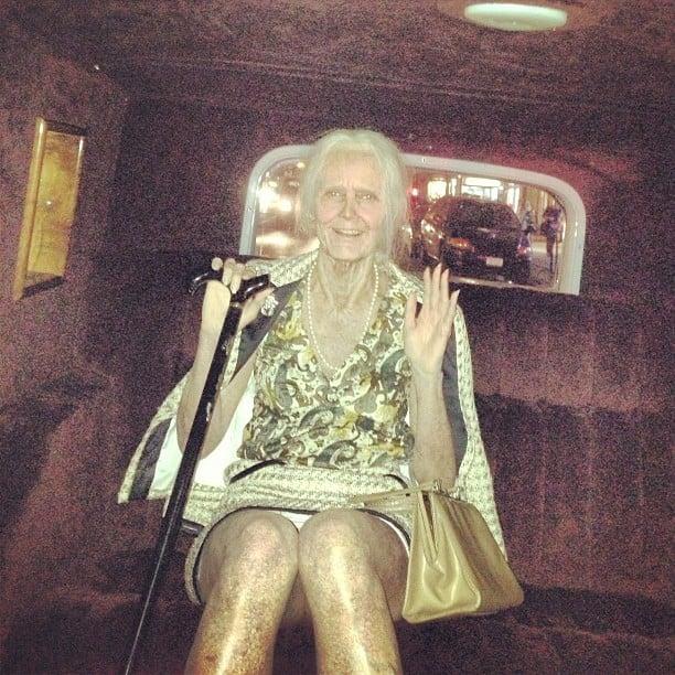 Heidi Klum gave a glimpse of her over-the-top Halloween costume — an elderly woman! Source: Instagram user heidiklum