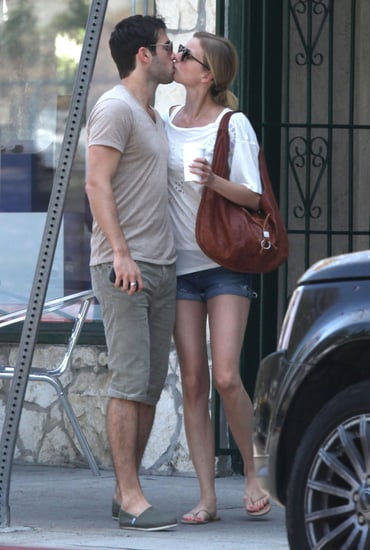 Emily VanCamp and Joshua Bowman showed PDA leaving brunch in LA.