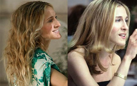 SatC Sighting!  Do You Like Carrie's Hair Better Straight or Curly?