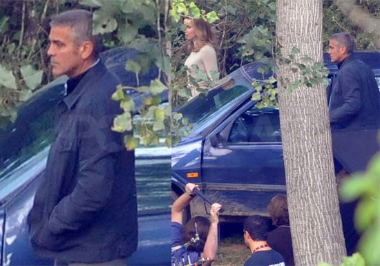 Photos of George Clooney Filming The American in Italy 2009-09-29 11:30:00