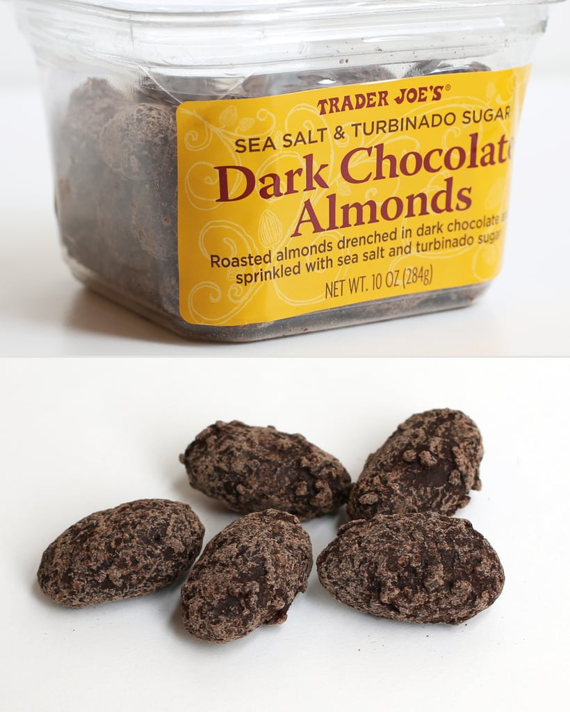 Sea Salt and Turbinado Sugar Dark Chocolate Almonds ($4)