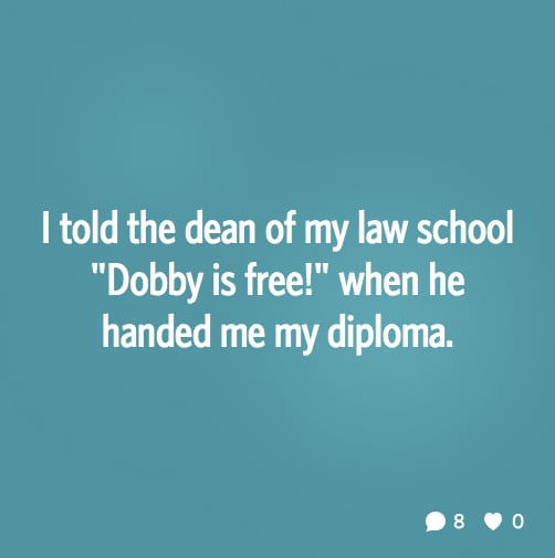 Dobby has no master!