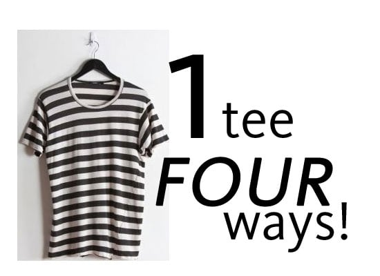 How to Wear One Striped Tee Four Ways: Maxi Skirt, Preppy, Printed and Tomboyish! Shop Our Online Edit: