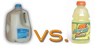 Sodium: Fat Free Skim Milk vs. Gatorade