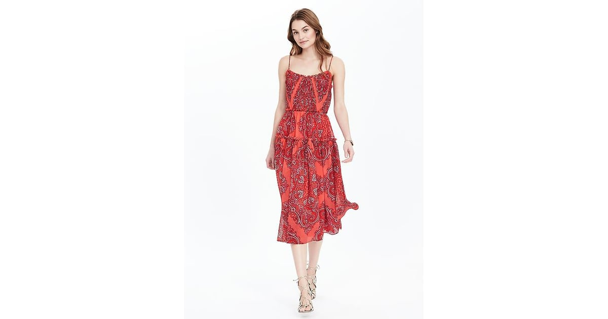 Banana republic paisley strappy midi dress 178 what for Banana republic wedding dresses