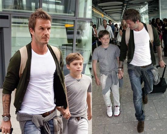 David Beckham and Brooklyn Beckham at Wimbledon 2010-07-04 18:30:00