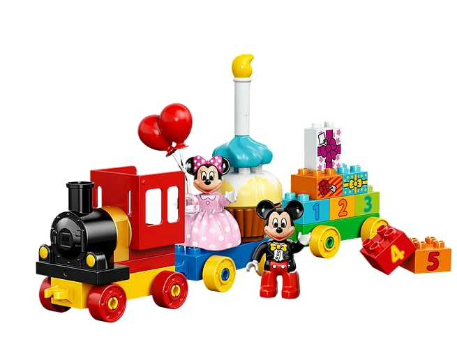 For 2-Year-Olds: Lego Duplo Disney Mickey and Minnie Birthday Parade Building Kit