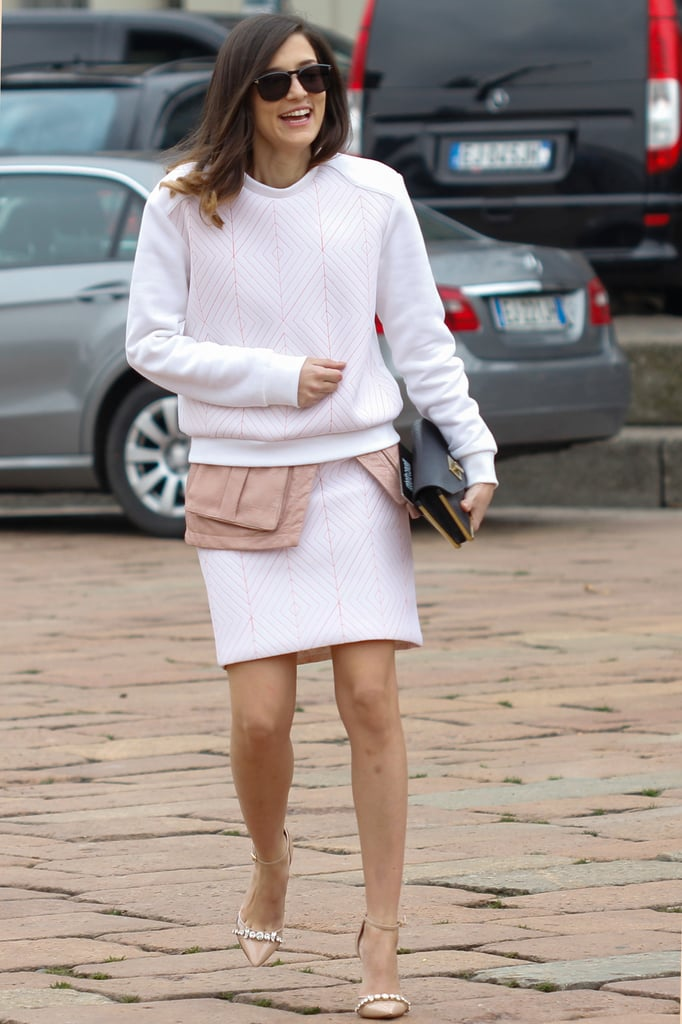 This skirtsuit was a far cry from any officewear, thanks to fresh, sporty silhouettes.