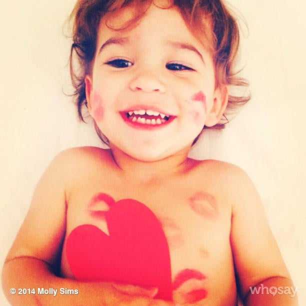 Brooks Stuber was full of love on Valentine's Day morning. Source: Instagram user mollybsims
