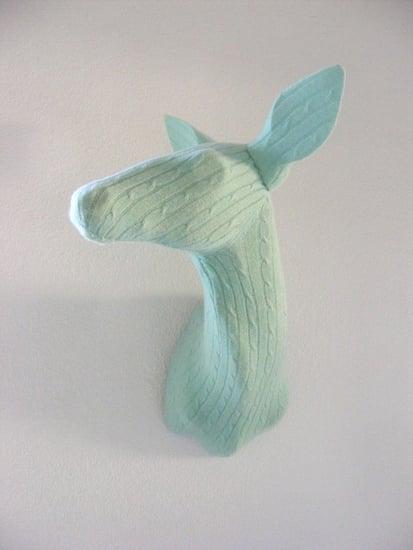 Delicate Doe small aqua knit trophy ($300)