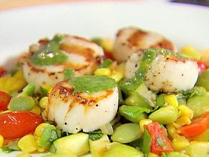 Sunday BBQ: Grilled Scallops With Succotash