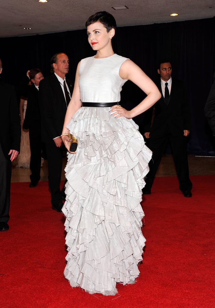 Ginnifer Goodwin wore white to the event.