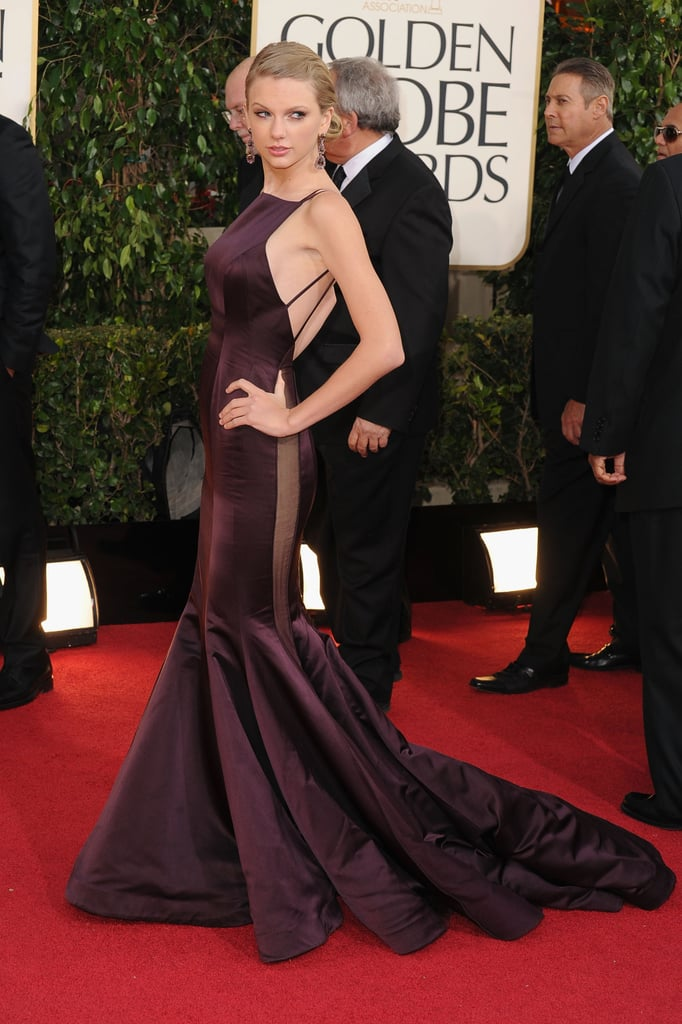 Taylor Swift went backless at the Golden Globes.