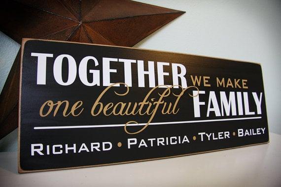 Beautiful Family Sign
