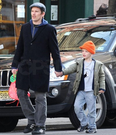 Ethan Hawke and Son Levon Roan Out in NYC