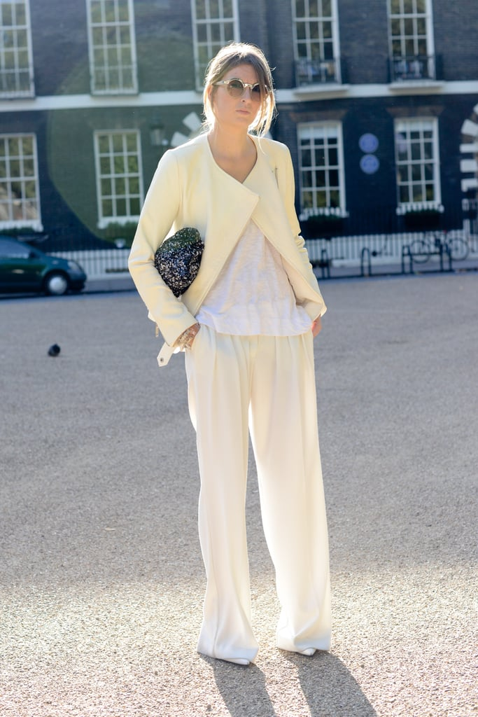 We're loving the use of flirty pastels against a relaxed silhouette.
