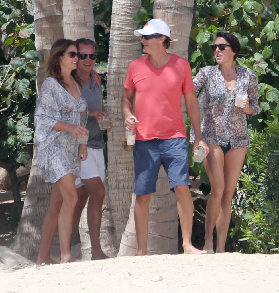 Cindy Crawford and her husband Rande Gerber hung out with friends in Cabo San Lucas, Mexico, on Saturday.