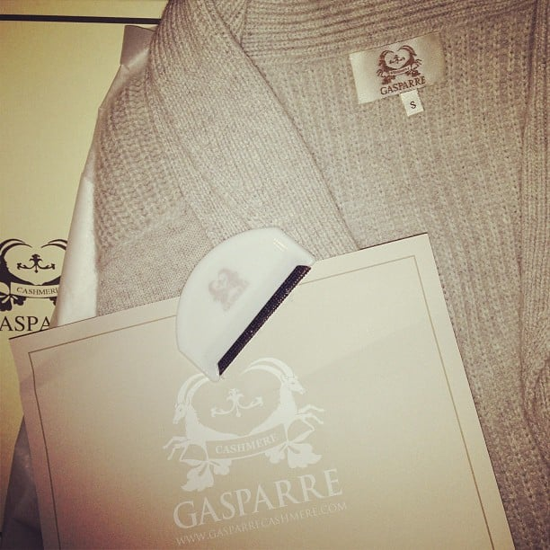 Got a sweater? Then you need a comb for it. This Gasparre goodie is a bit of a fashion godsend — and the knit ain't bad either! Wink.